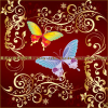 Free Flowers ornaments and butterflies brushes