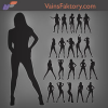 Hot Photo model girls Silhouettes Brushes