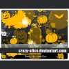 Free Pumpkins and bats brushes for Photoshop