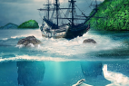 Adobe Photoshop CS6 Tutorial: Create Amazing Underwater Scene From Lorelei Legend – Photo Manipulation