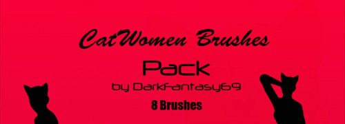 Cat Woman Photoshop Brushes Pack