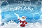 Christmas Photoshop Tutorial #1: Sketchy Santa Wallpaper