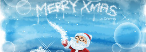 Christmas Photoshop Tutorial #1: Sketchy Santa Wallpaper