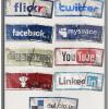 Grungy Social Media Icons