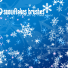 Let it snow: Snowflake Brushes