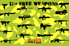 Vector Weapon Silhouettes