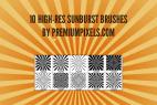 10 Sunburst Brushes