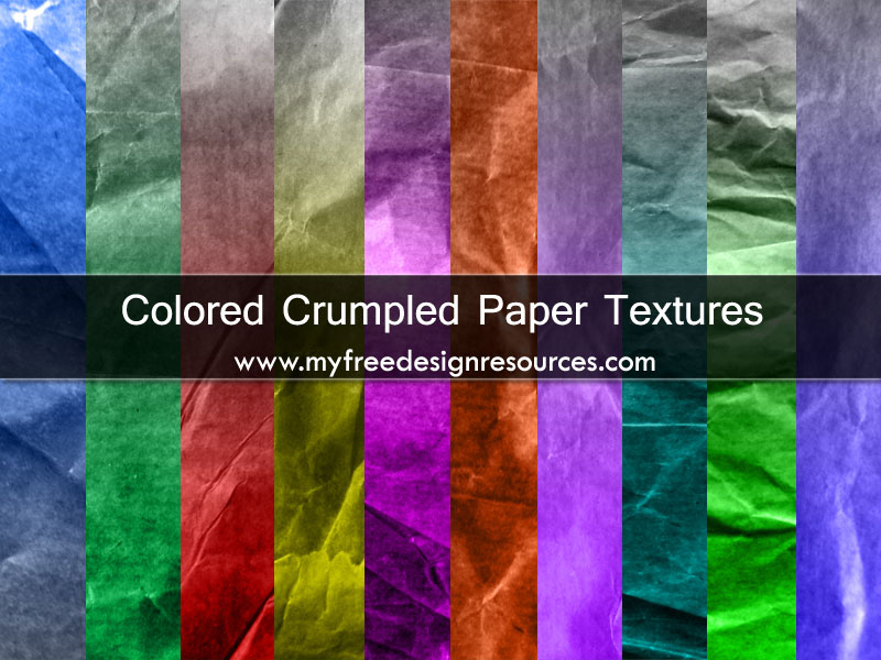 Colored Crumpled Paper Textures