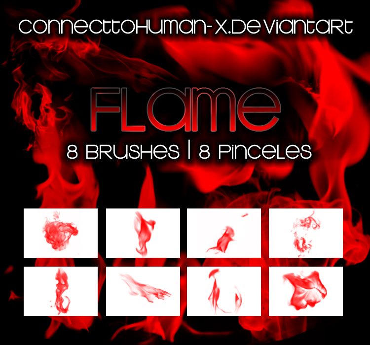 Light up your designs with flame brushes
