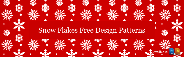 Snowflake Pattern for Photoshop and Illustrator